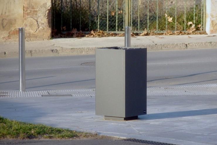 Alras M afvalbak is geschikt voor alle openbare ruimtes