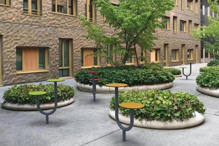 Alien kruk / tafel zitelement -  voor parken en kantoortuinen