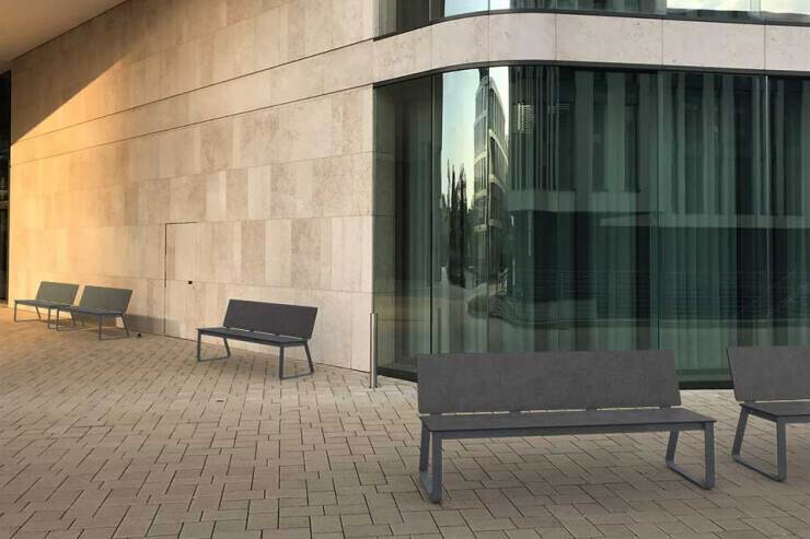 Bibi bank minimalistisch en modern - antraciet