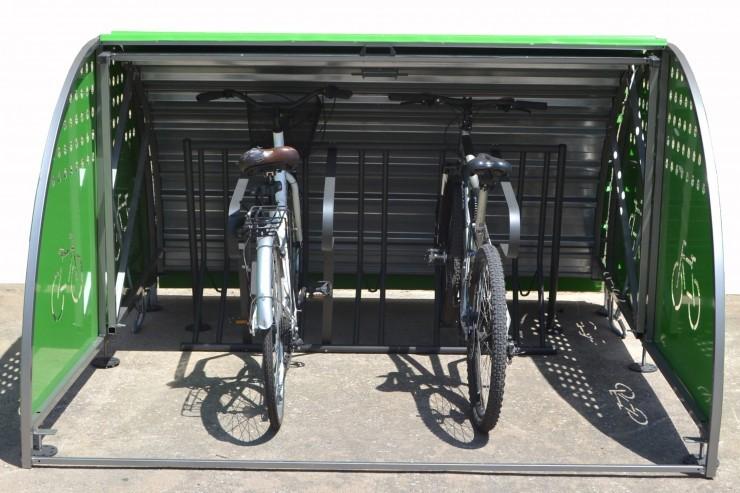 Box modulaire fietskluis - biedt ruimte aan 1 of 2 fietsen