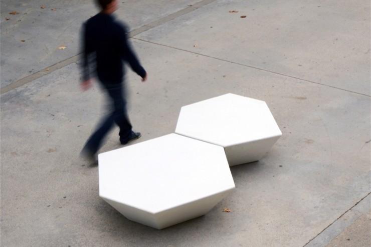 Cristal zitelement geschikt voor elke openbare ruimte