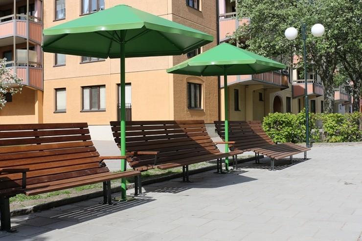 Four Seasons parasol met Kajen Loungestoel
