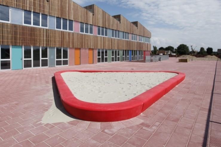Loop zandbak voor het bouwen van zandkastelen