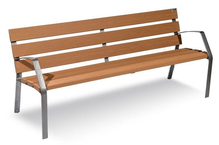Modo bank hout - gemaakt van technisch hout en onderstel van nodulair gietijzer