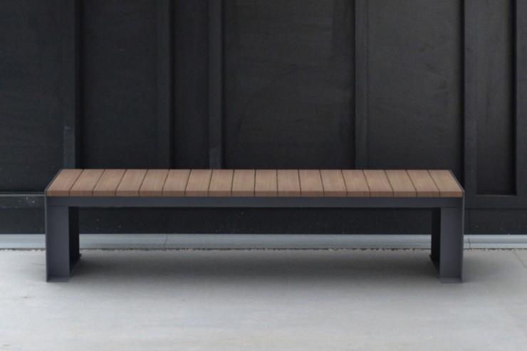 Passepartout Wood bank - houten bank strak en modern design