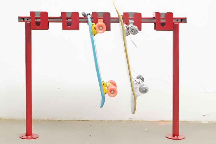 Skate skateboardstalling is te monteren op de grond