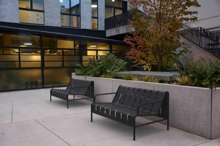 Chilly B bank van staal voor de openbare binnen- en buitenruimte