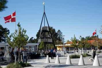 Chicane afzetpaal om voetgangersgebieden en pleinen af te zetten