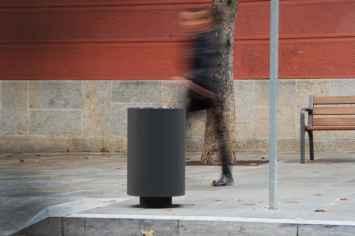 Cilar afvalbak gemaakt van duurzaam staal
