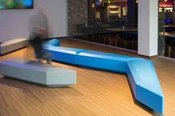 Coffin Lounge bank veel toegepast binnen scholen en onderwijsinstellingen