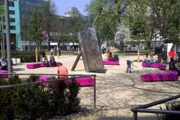 Coffin Lounge bank voor de openbare pleinen en parken
