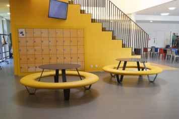 Buddy picknicktafel rond voor op scholen en universiteiten