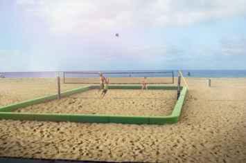 Loop Playfield Rand Sportveld voor op het strand
