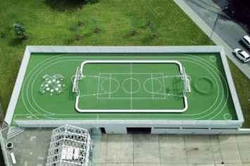 Loop Playfield Rand Sportveld, voetbalveld voor buitenruimte