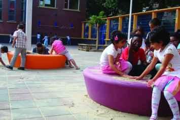 Loop zandbak voor speeltuinen en schoolpleinen