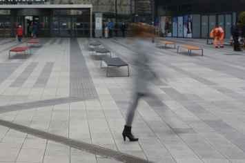 Mayfield bank voor de openbare buitenruimtes zoals pleinen