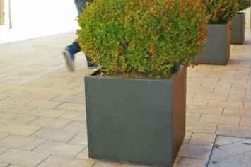 Square plantenbak vierkant van staal