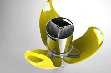 Tulpi afvalbak in de vorm van een tulp bloem in geel groen rood zwart oranje paars wit blauw opvallende prullenbak waar zwerfvuil snel in gegooid zal worden en omgeving schoon houdt vrolijke prullenbak voor buiten openbare ruimte typisch hollands