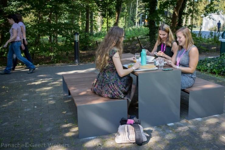 Passepartout Wood tafel voor parken en openbare buitenruimtes