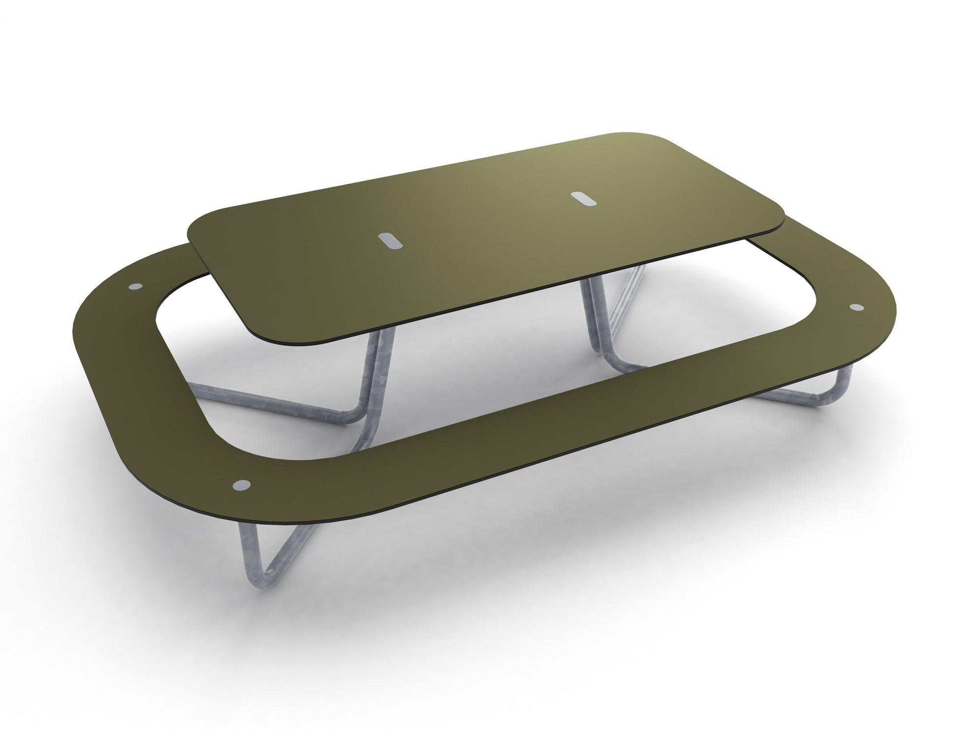 Plateau-O picknicktafel gemaakt van HPL - om aan te ontspannen of te lunchen