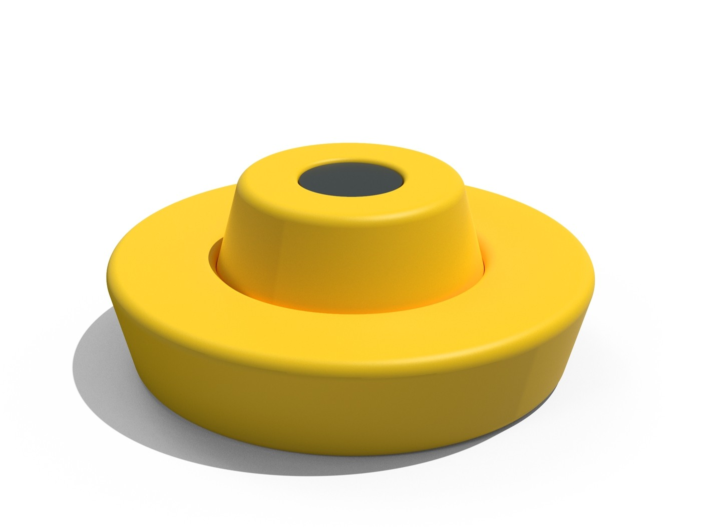 Ronde bank Loop met rugleuning geel