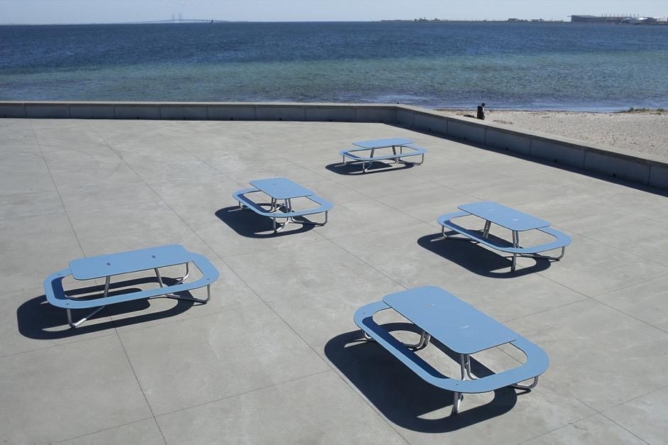 Plateau-O picknicktafels rond - voor de openbare ruimte