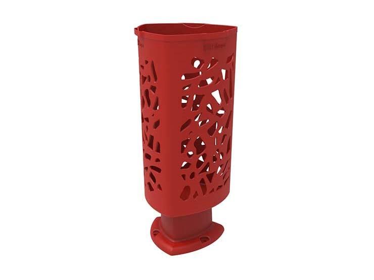 Afval- papierbak Scuderia, moderne vormgeving van kunststof - oranje