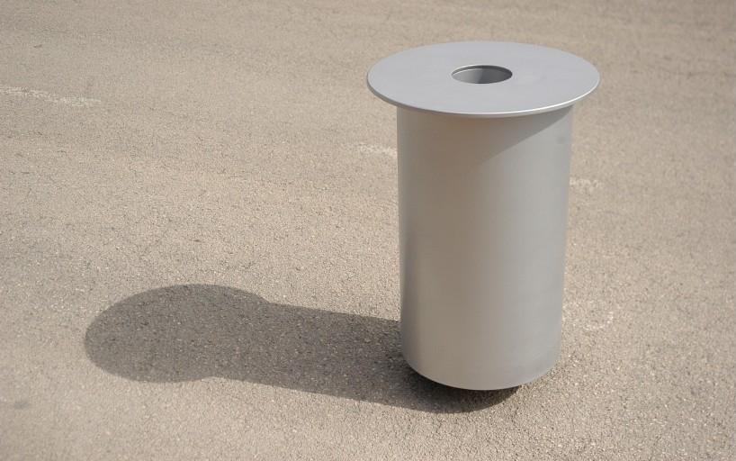 Concentrica afvalbak geschikt voor binnen- en buitenruimte