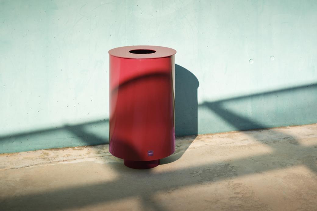 Concentrica afvalbak met opvallend, modern design