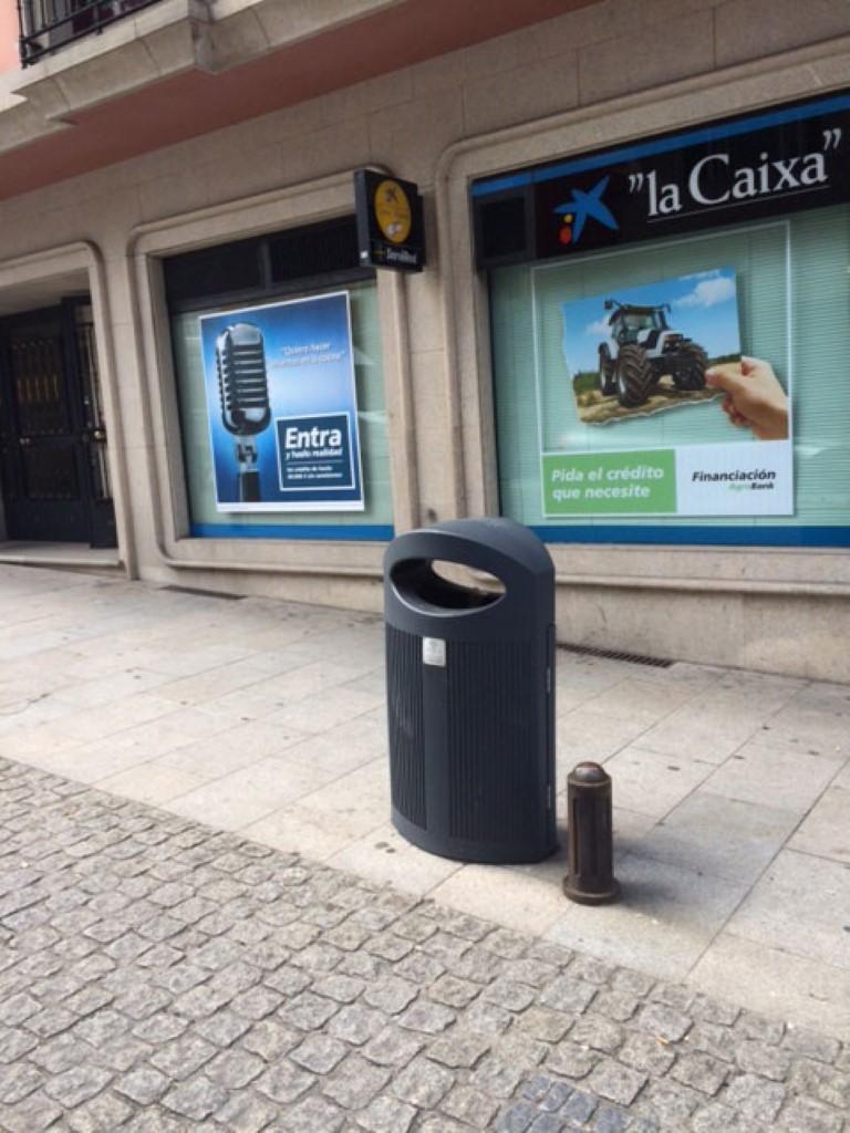 Afvalbak Ibiza van kunststof en inhoud 80L