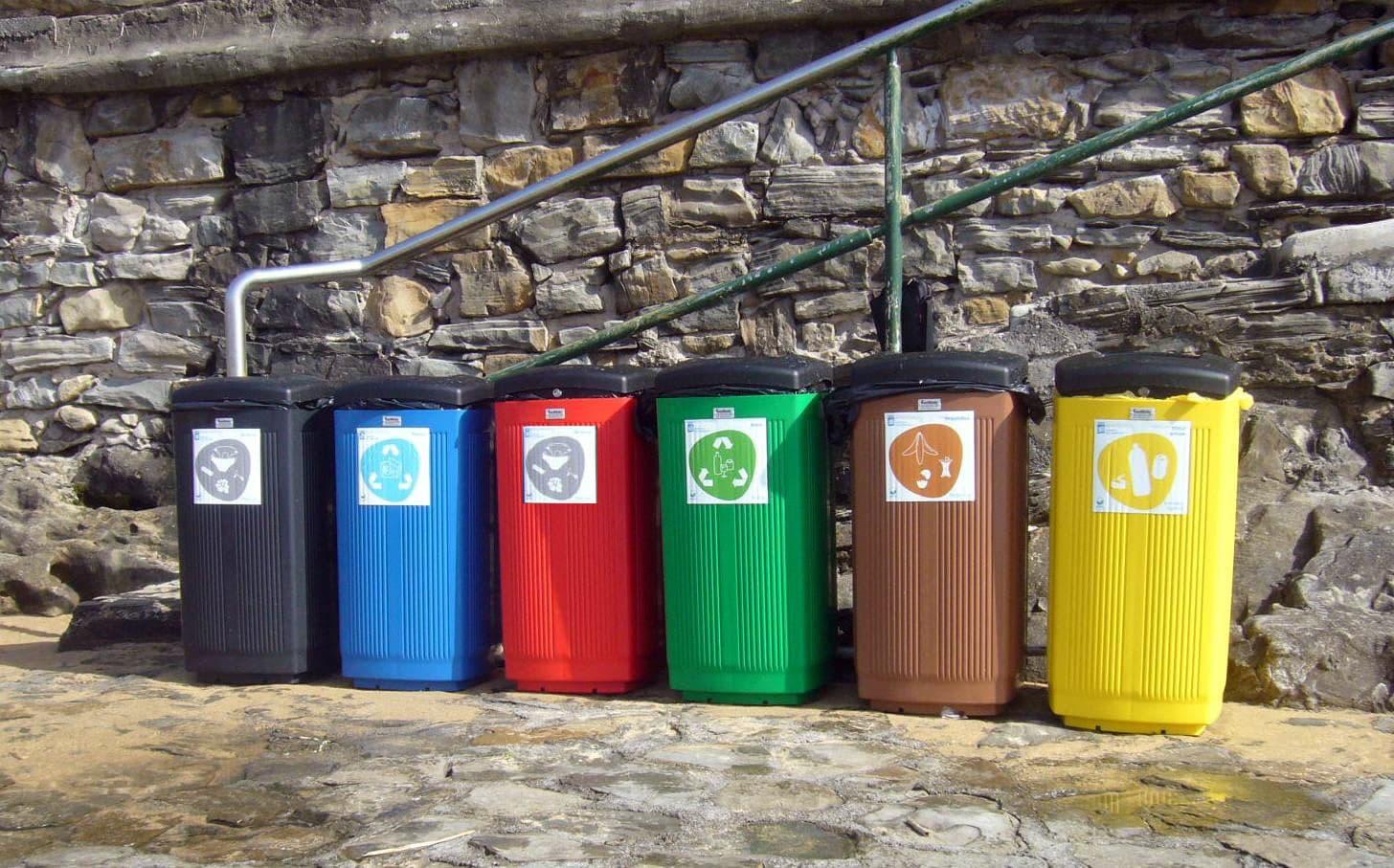 Afvalbak Toscana in 5 kleuren van kunststof