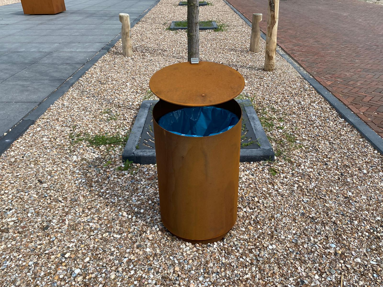 Tubo V Afvalbak voor parken en recreatiegebieden
