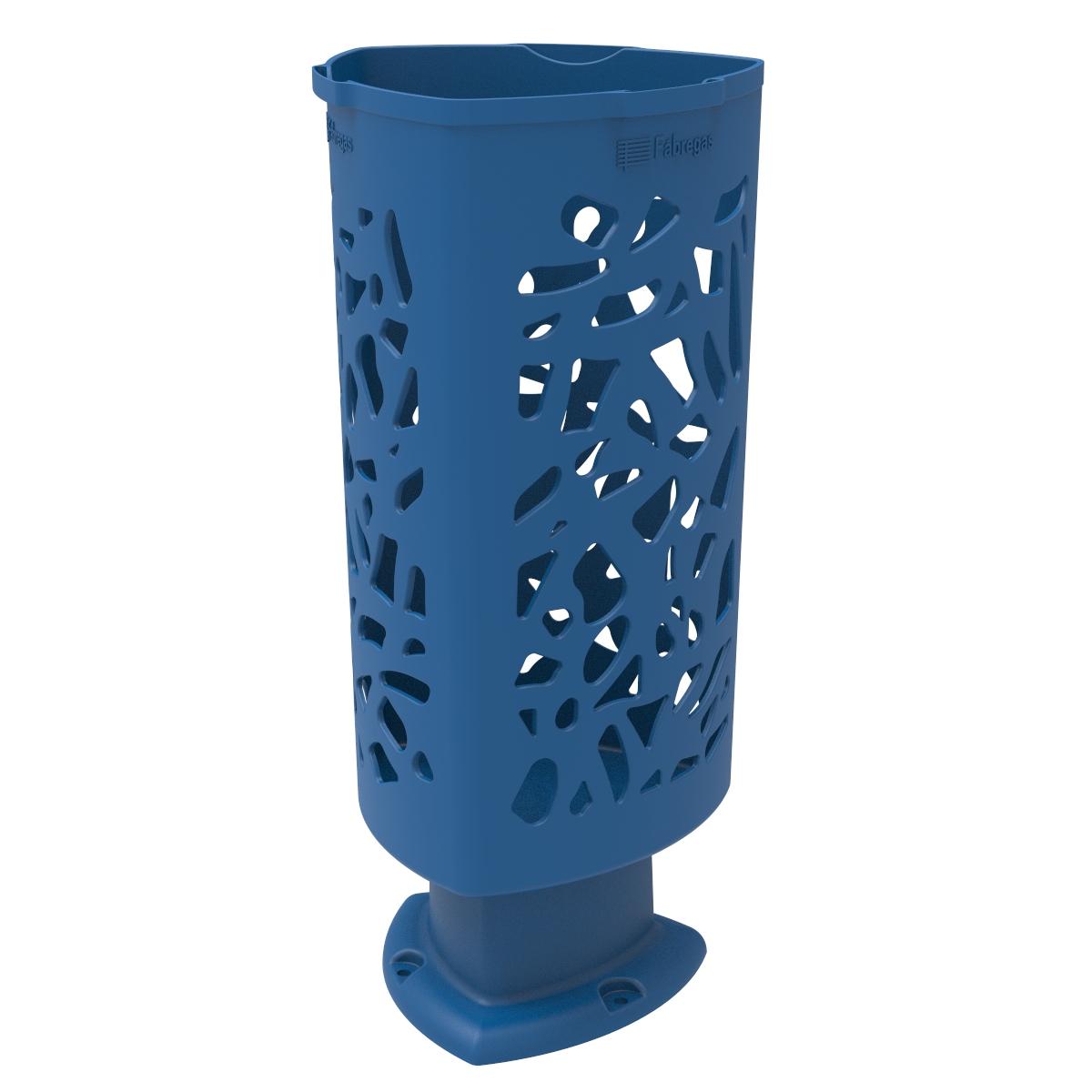 Afval- papierbak Scuderia in modern design - blauw