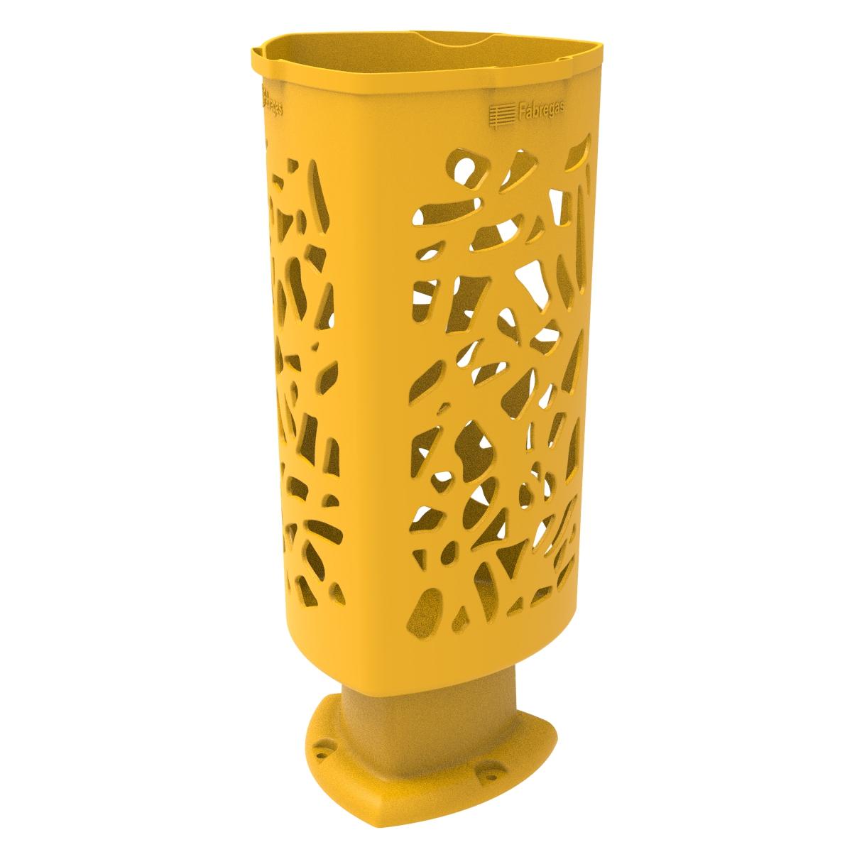 Afval- papierbak Scuderia van kunststof - geel
