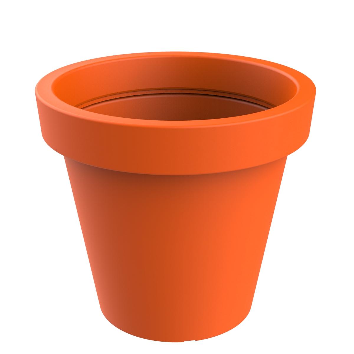 Plantenbak van hoogwaardig kunststof - oranje