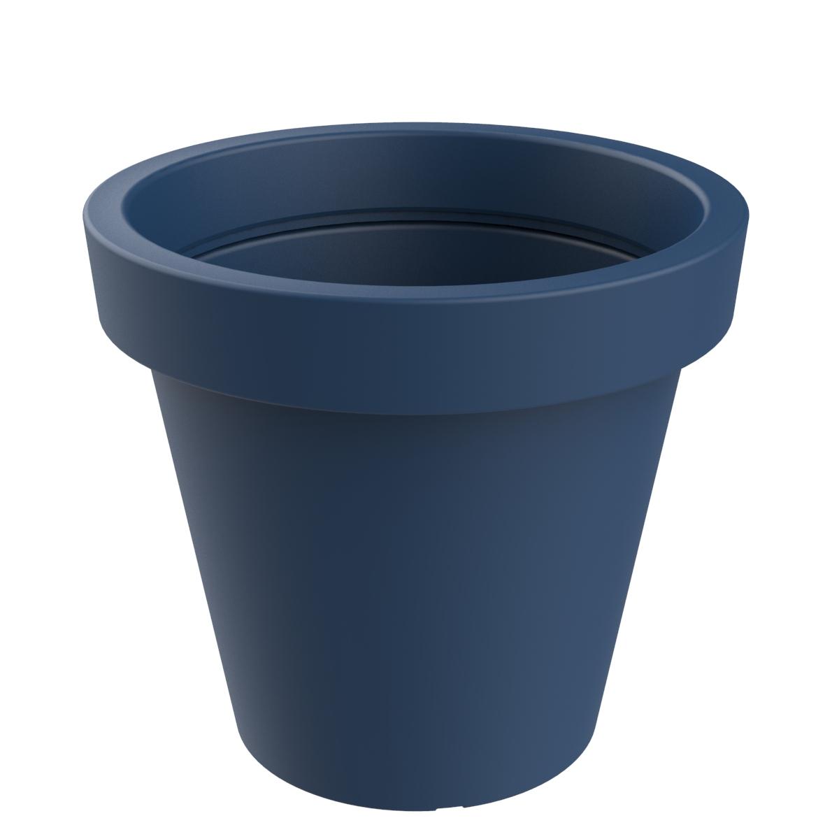 Alvium bloempot voor scholen, winkelcentra en parken - donkerblauw
