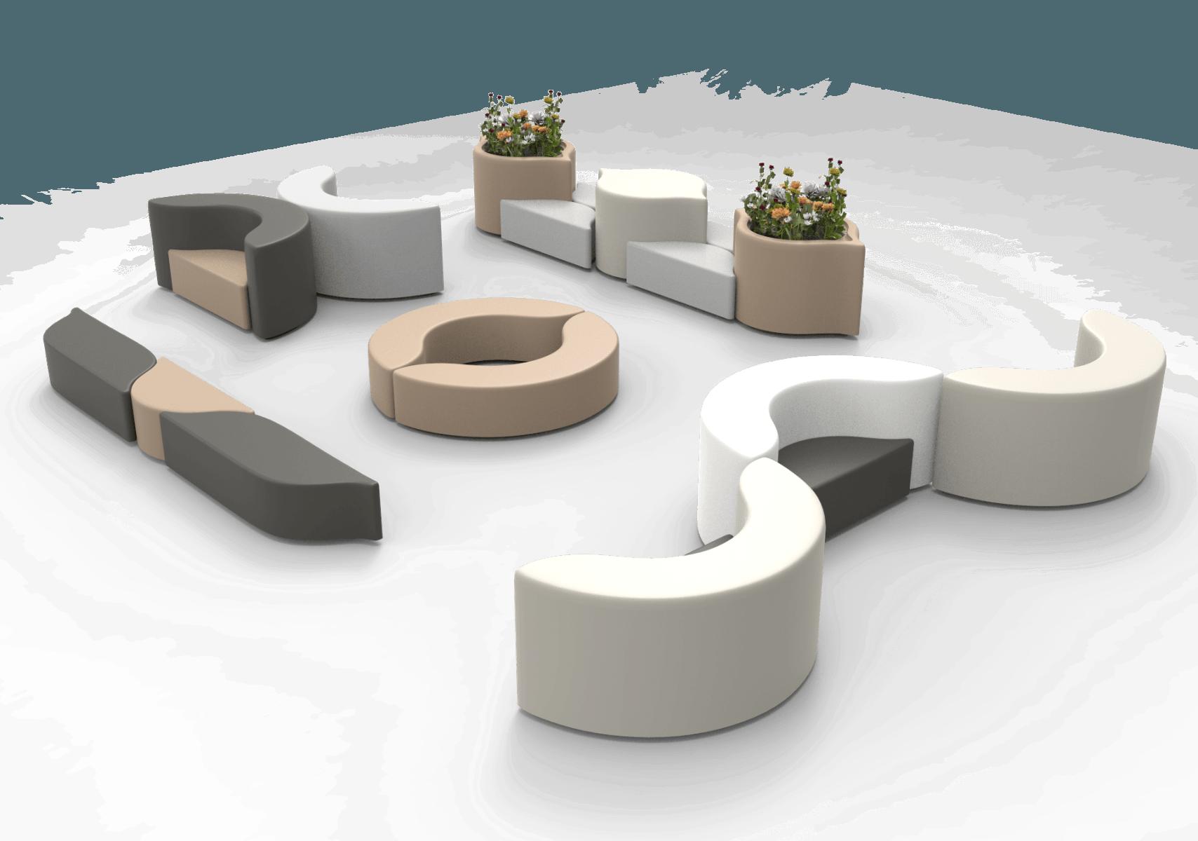 Arco bank voor een moderne zakelijke ruimte