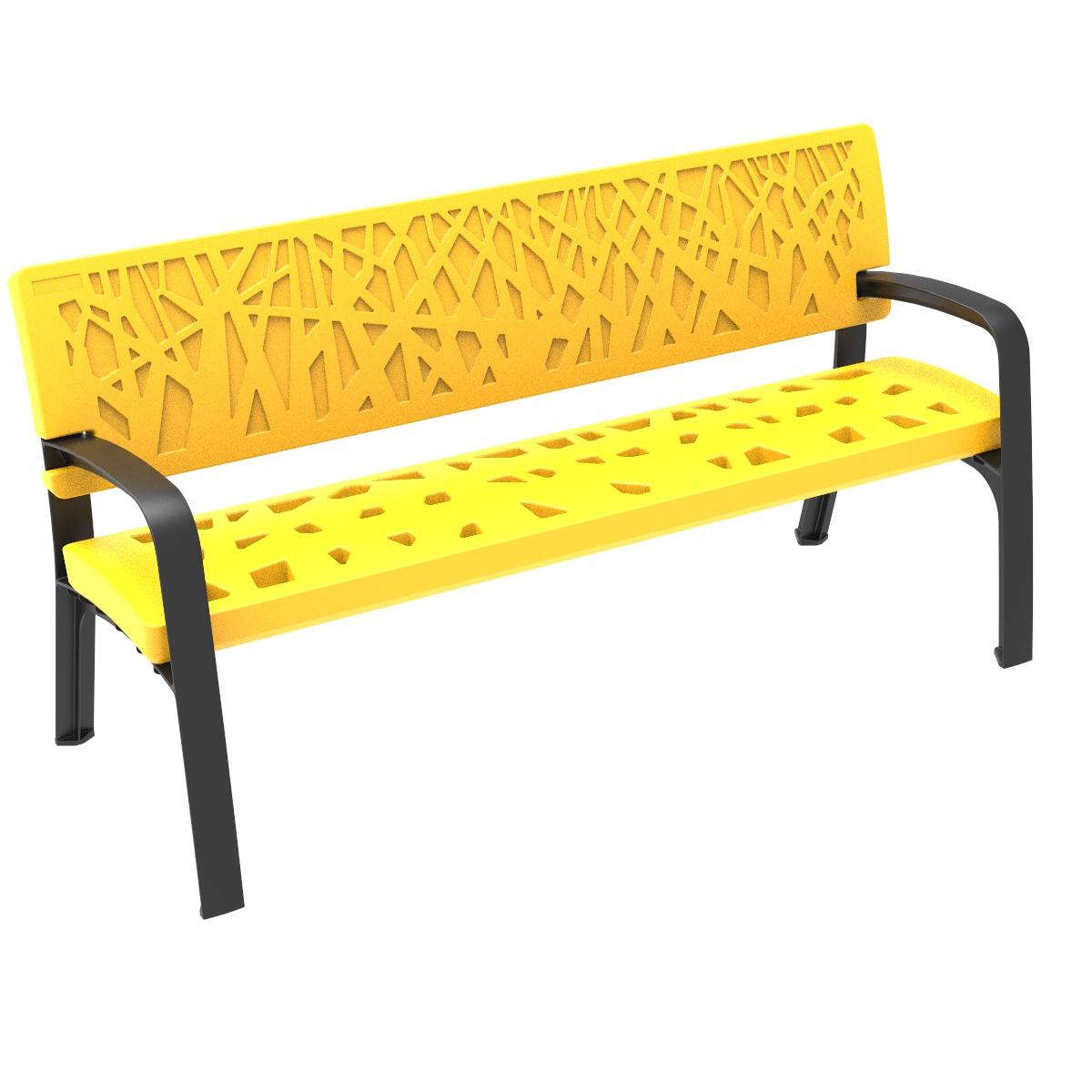 Bank Maverik van polyethyleen - geel