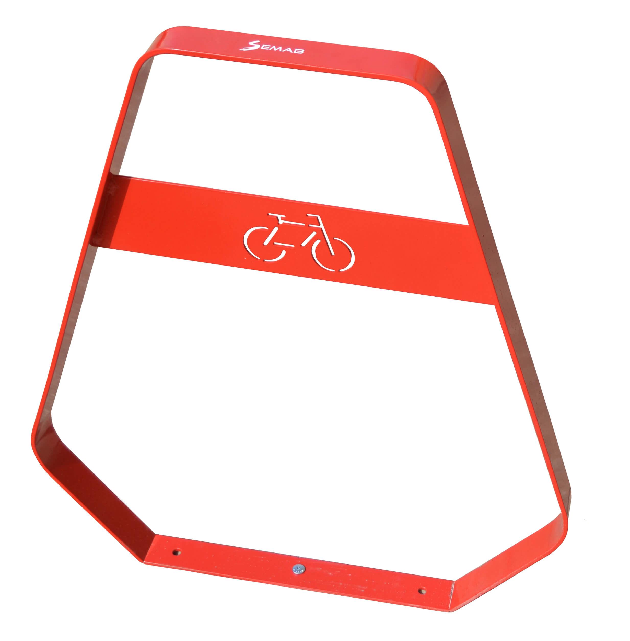 Banyoles fietsbeugel - rood
