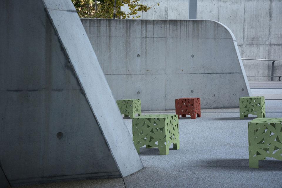 Big Bux kruk / tafel inrichting van winkelcentrum, schoolplein en kantoortuin