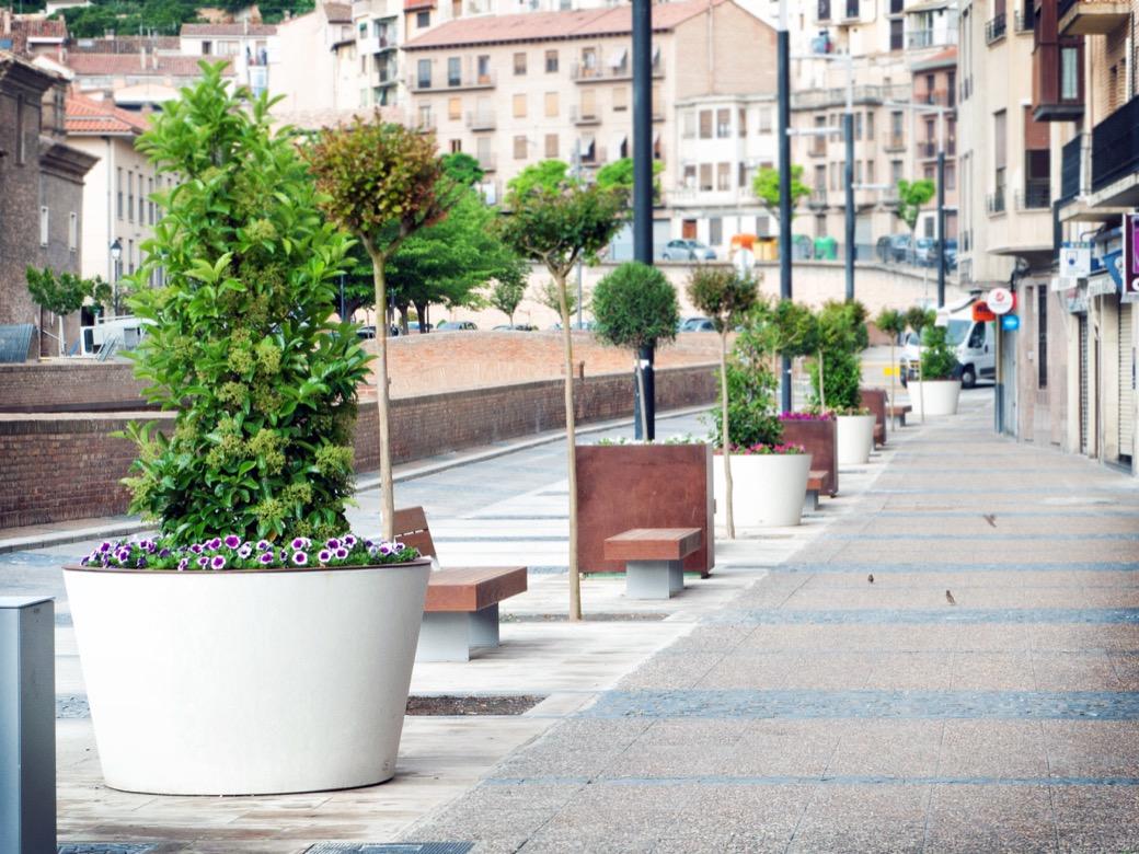 Boira plantenbak - ronde plantenbak gemaakt van UHPC beton