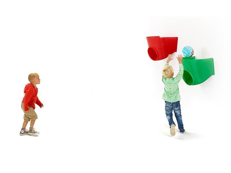 Medio's Bounce Ludobasket speelelement - rood en groen