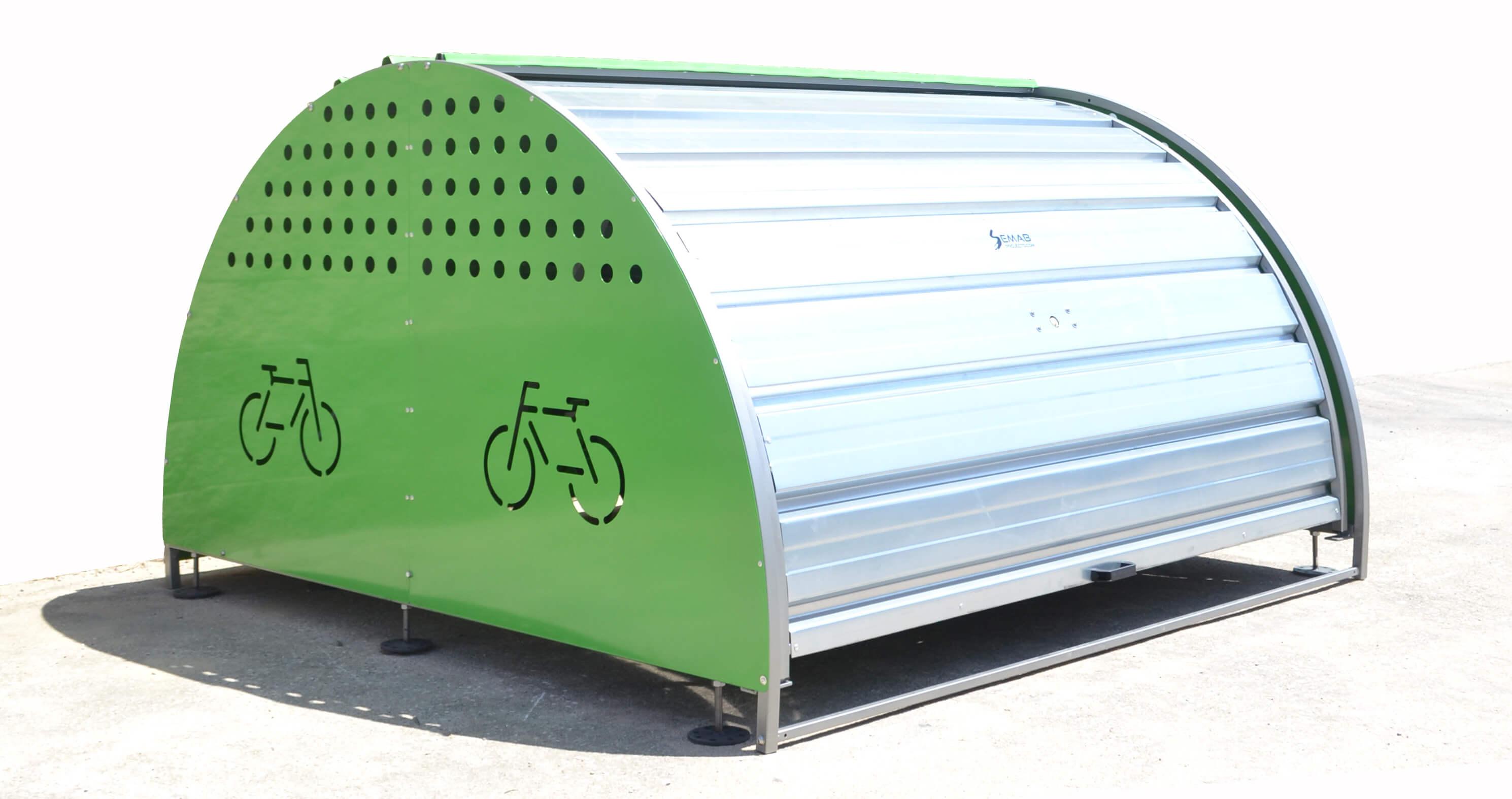 Box modulaire fietskluis - afsluitbaar door sleutel of parkeerkaart