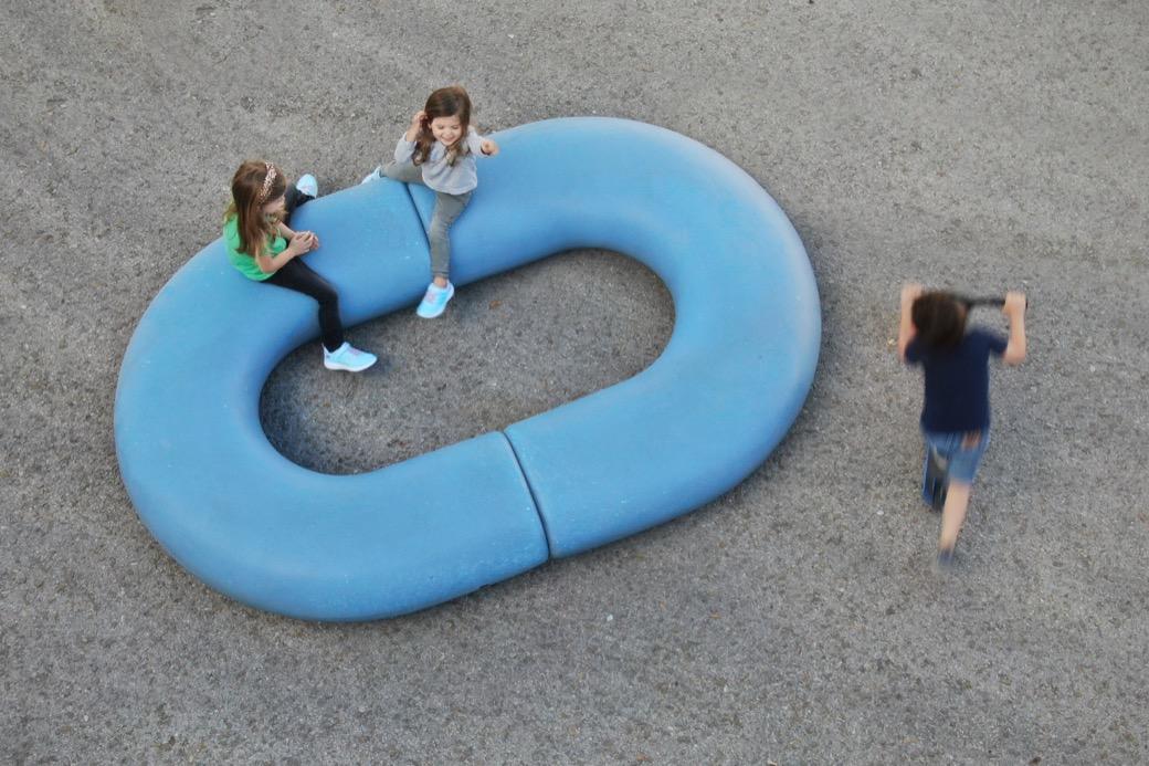 Caribou zitelement is gemaakt van gerecycled polyethyleen
