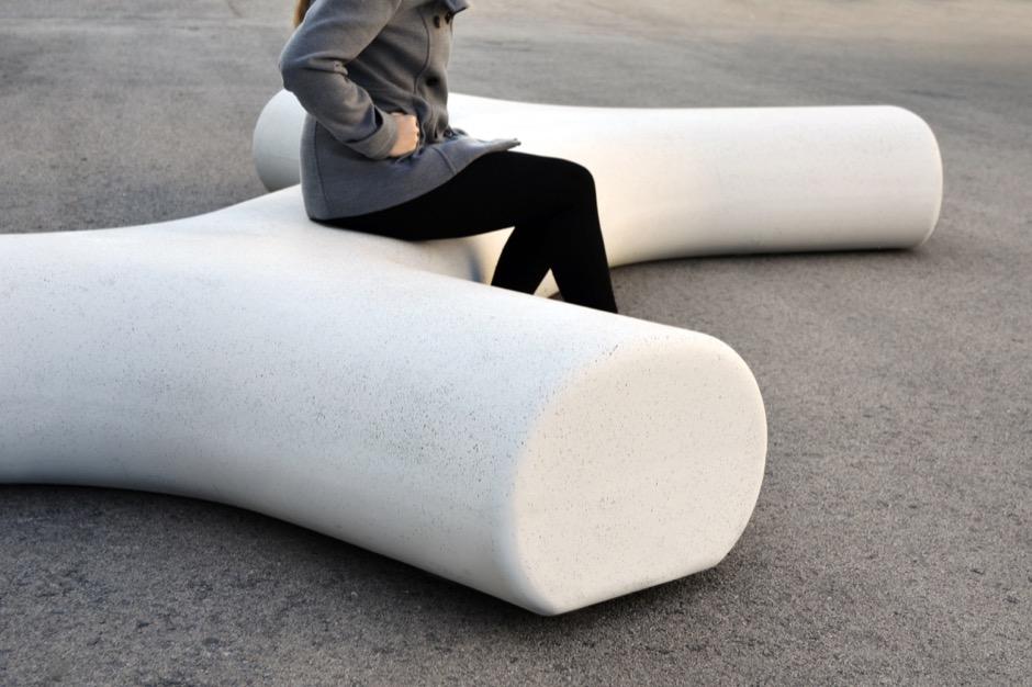 Cinnamon zitelement - modern design van beton