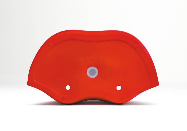 Dali lips bank in de vorm van rode lippen - rood