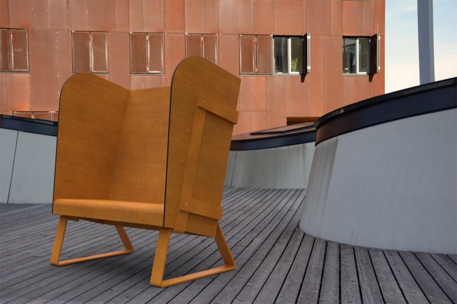 Eiland stoel is beschikbaar in 5 verschillende kleuren