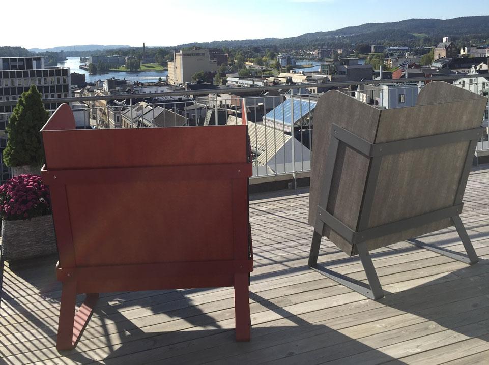 Eiland stoel - rustgevend ontspannen in buitenlucht
