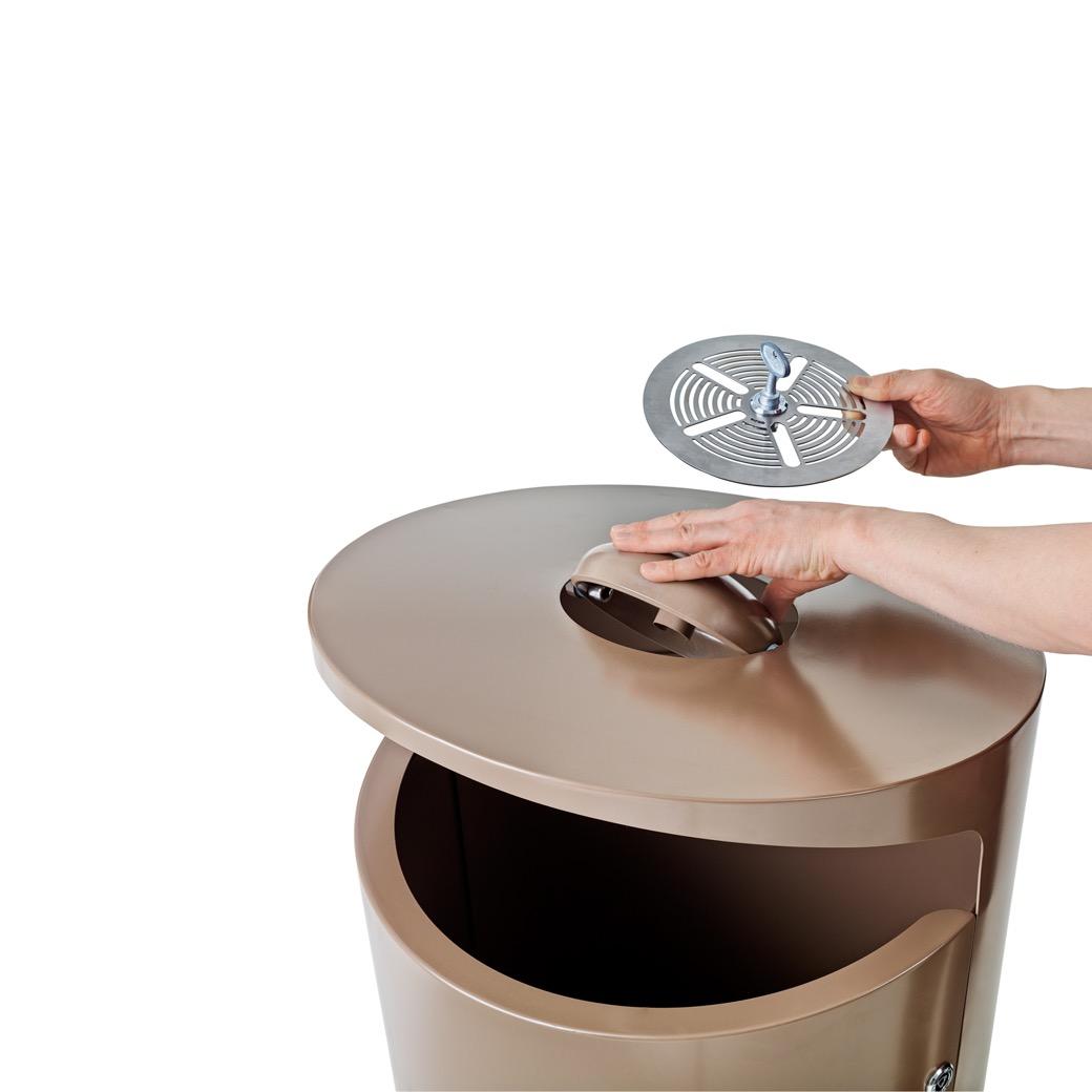 Elbin afvalbak met geïntegreerde asbak