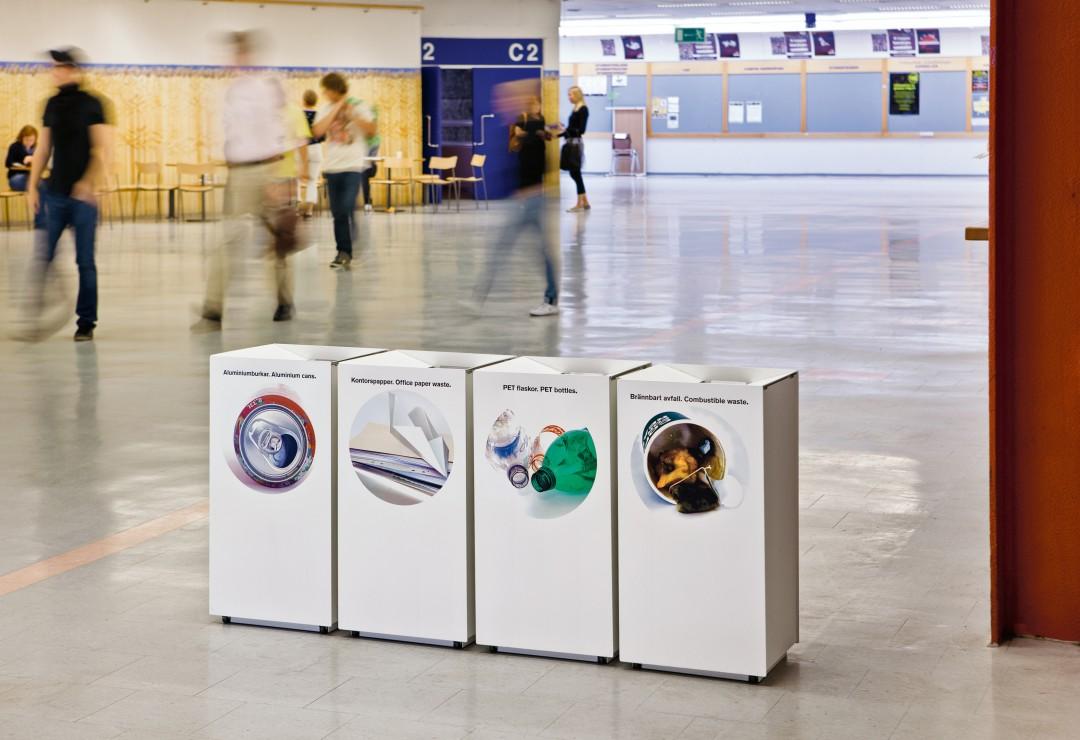 Foga afvalbak voor winkelcentra, restaurants en kantoor